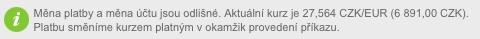 kurz czk euro airbank