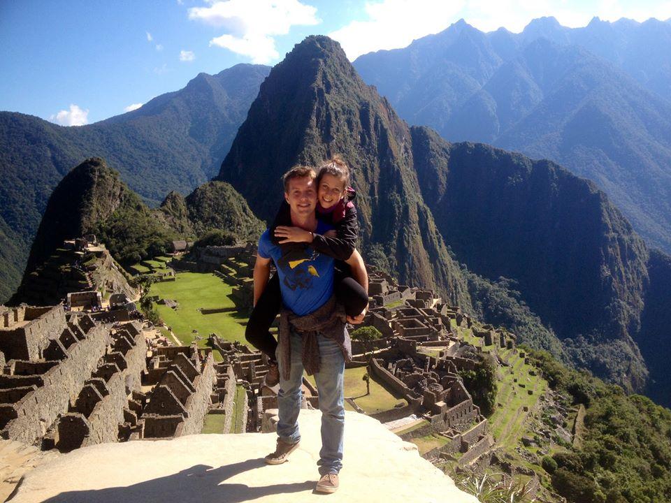Nicole a Sam Machu Pichu