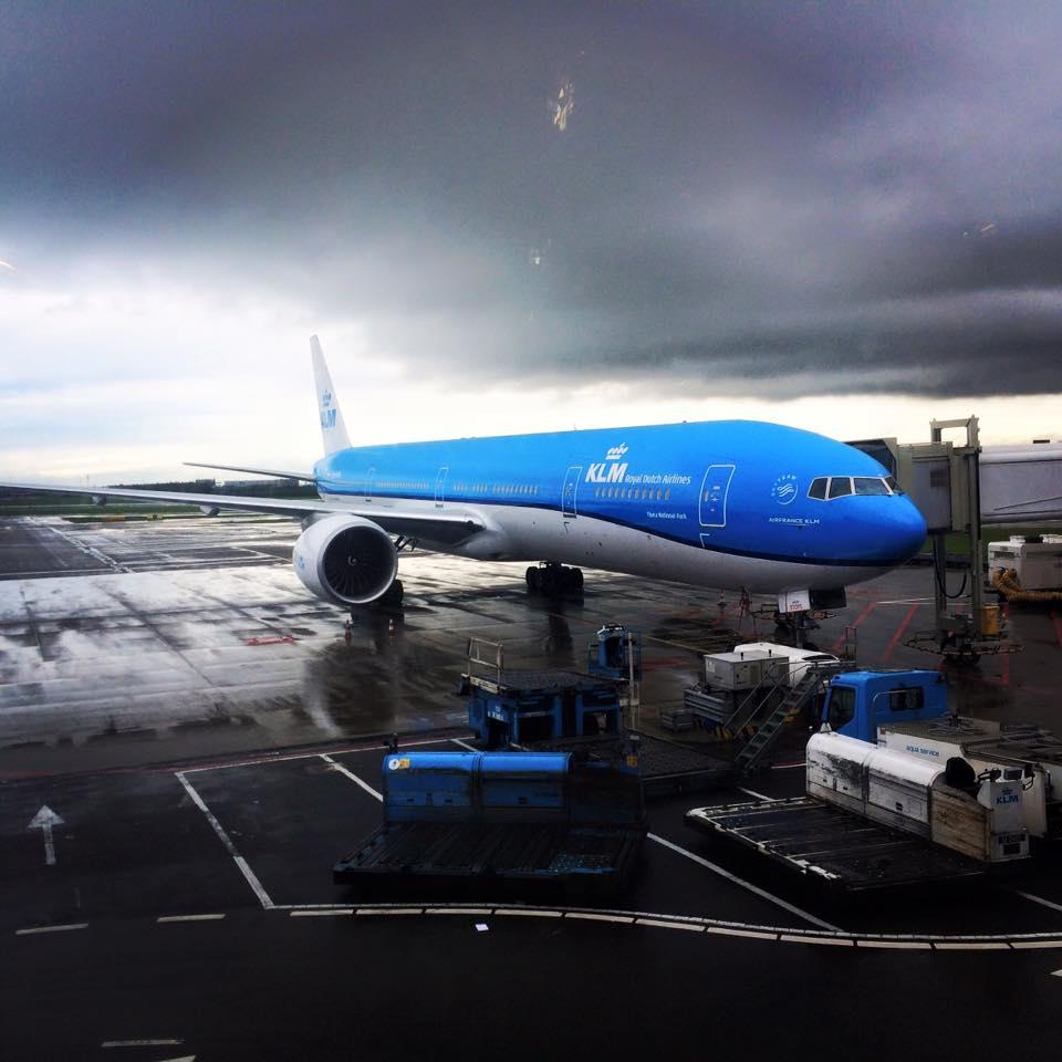 KLM letadlo z Evropy do Thajska