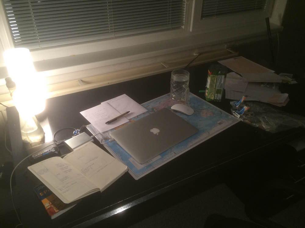 Práce večer digitální nomádství