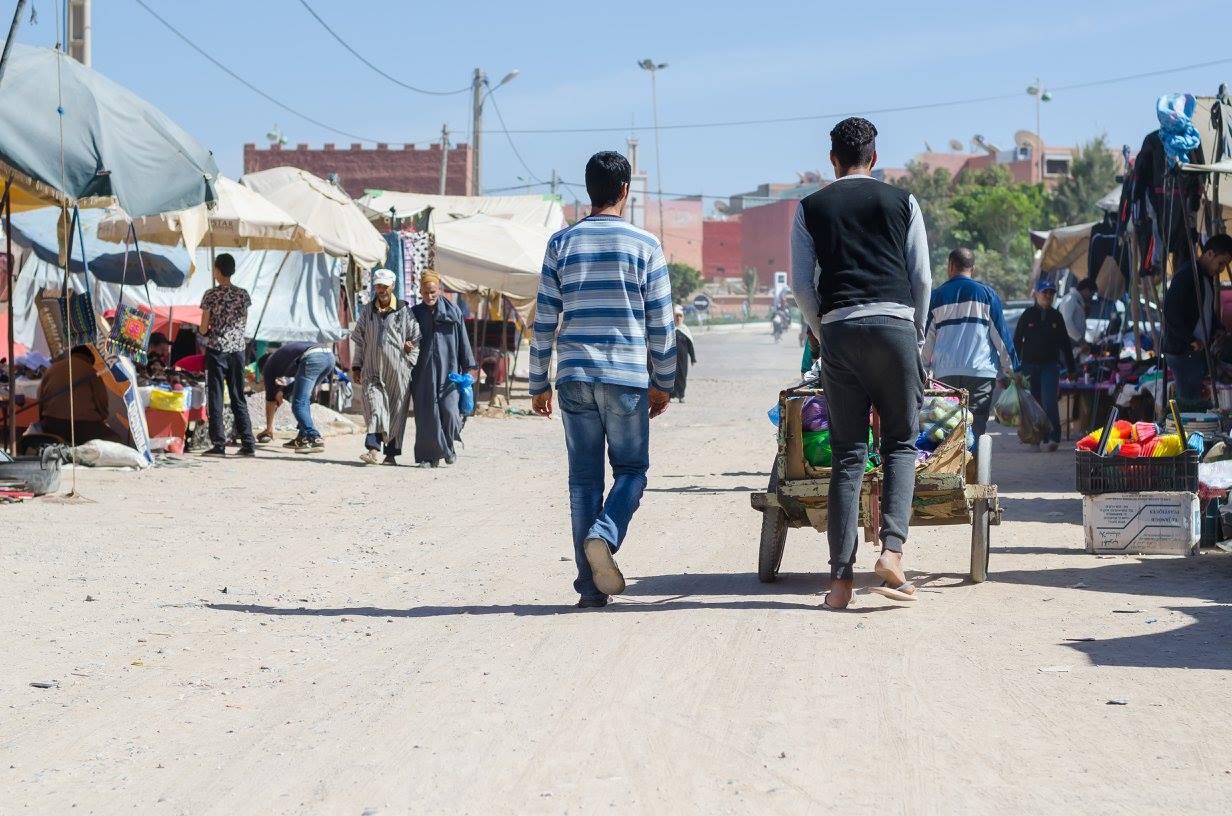 Auorir vesnice v Maroku trhy