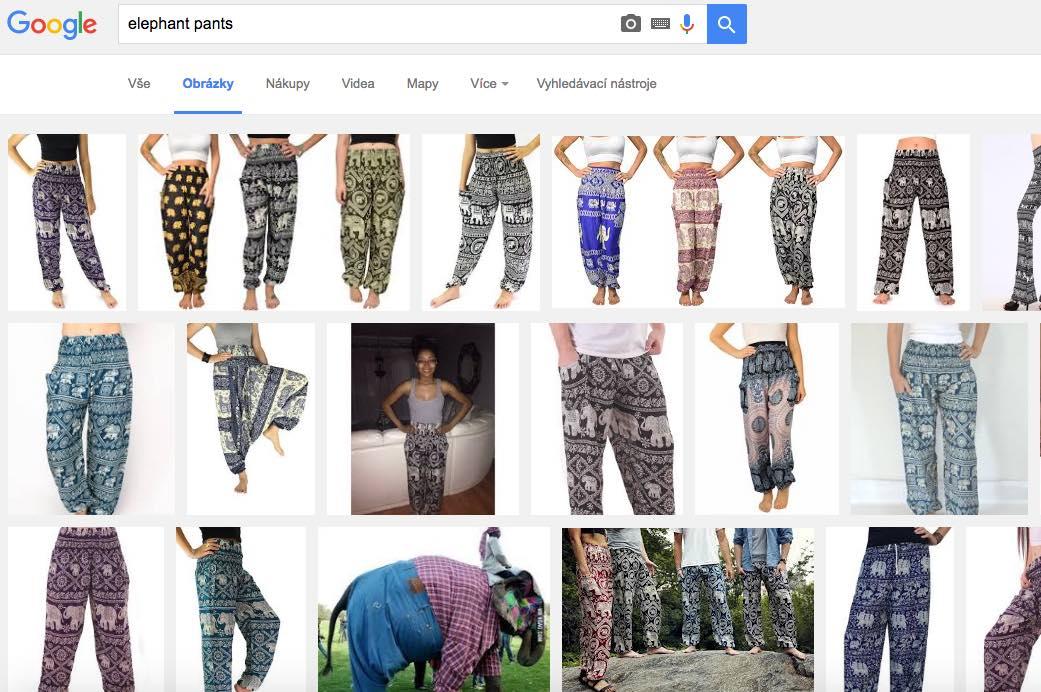 sloní kalhoty harémky