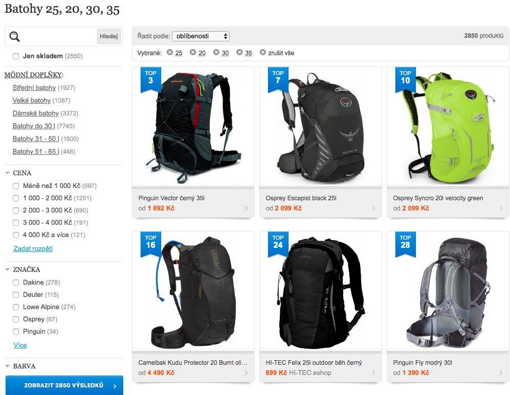 neoblíbenější batohy do 35 litrů
