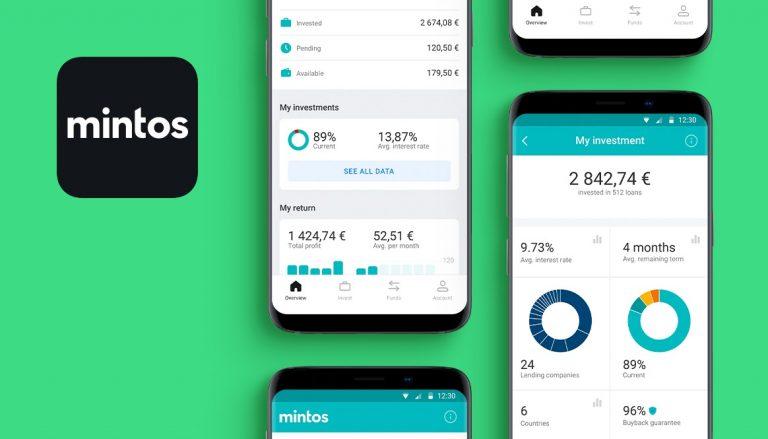 mobilní aplikace Mintos