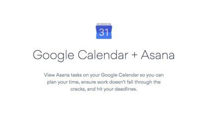 automatizace asana google kalendář