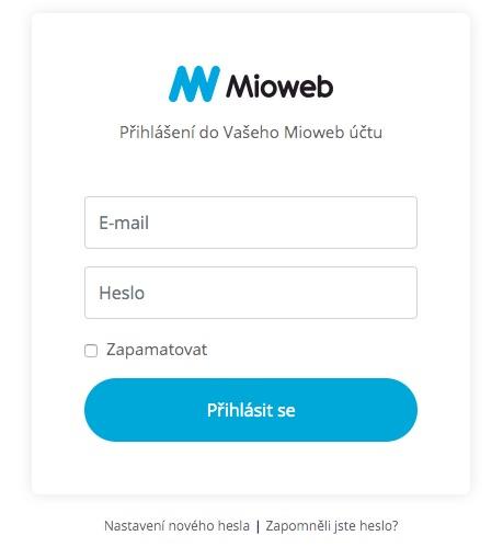 mioweb přihlášení