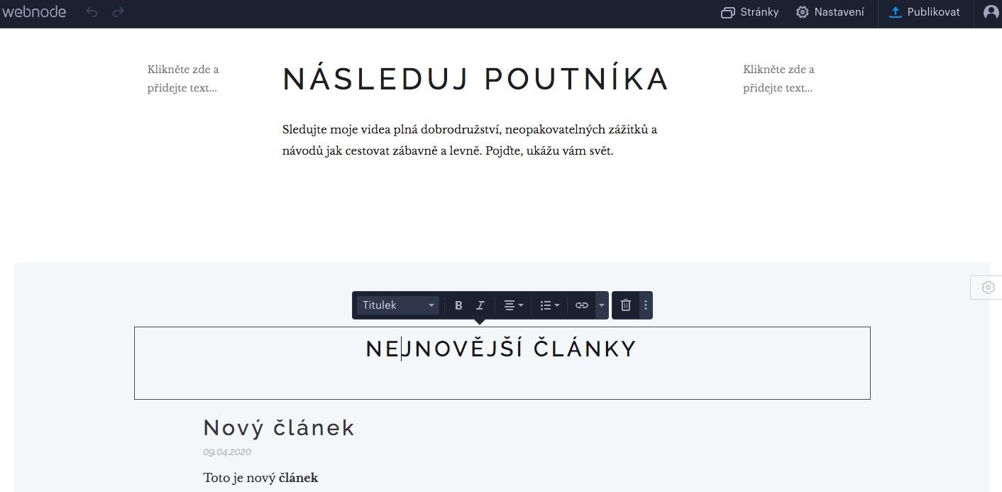 webnode blog