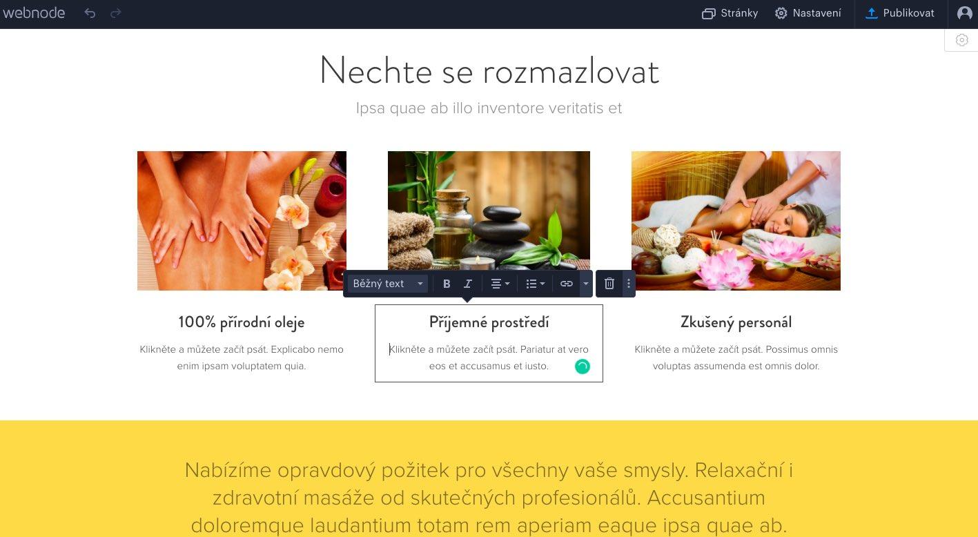 webnode firemní stránky