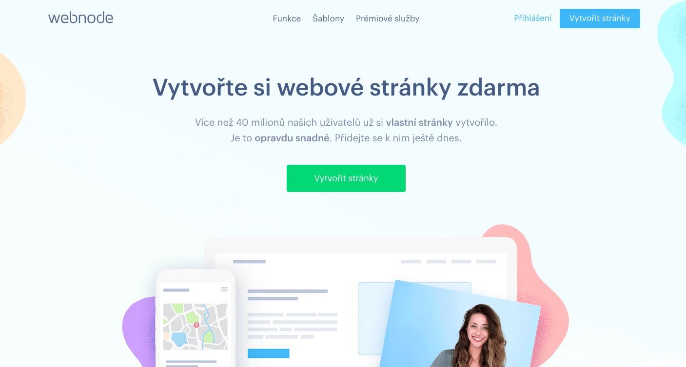 webnode vytvořte webové stránky zdarma