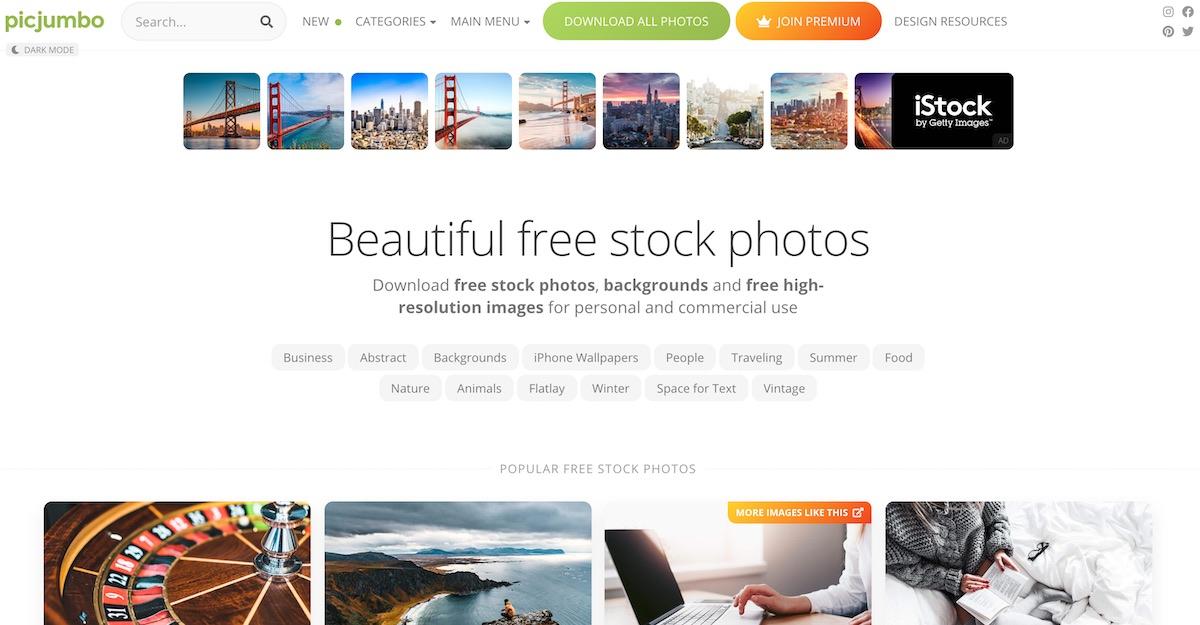 picjumbo free fotobanka zdarma