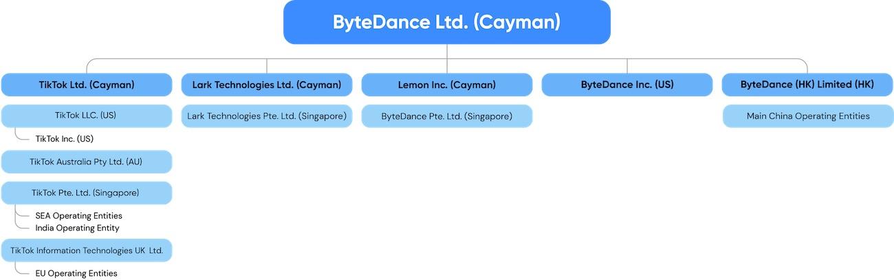 Společnost ByteDance provozující TikTok