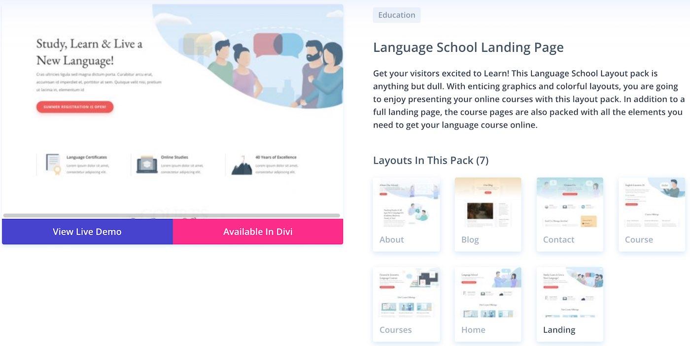 divi šablona wordpress škola vzdělávání